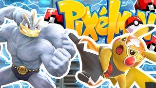 OP HO-OH LEGENDARY Minecraft PIXELMON LUCKY BLOCK STADIUM CHALLENGE - Pokemon Modded Battle Minigame