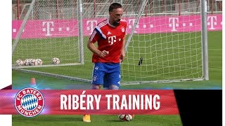 Training with Ribéry