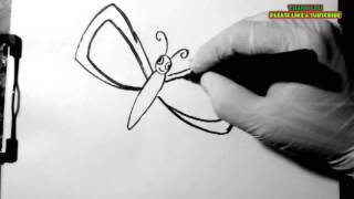 Learn to draw a butterfly for kids easy