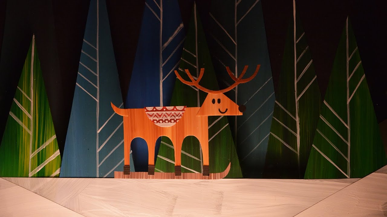 Reindeer Sweater Paper Cut Out Animation