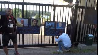 شهریور 1394 ساعت 04 بامداد مقابل سفارت جمهوری اسلامی در استکهلم سوئد