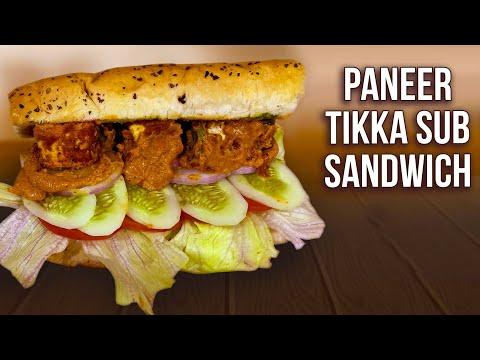 How To Make Paneer Tikka Sub Sandwich | Subway Sandwich | World Vegetarian Day | Sub Sandwich |Ruchi