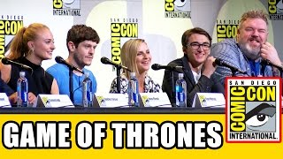 Game of Thrones Comic Con panel highlights & Season 7 news with Iwan Rheon, Kristian Nairn, Sophie Turner, Isaac Hempstead Wright, Liam Cunningham, ...
