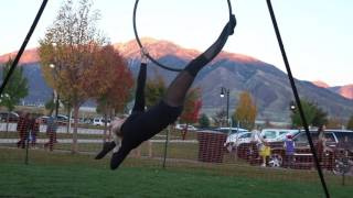 Aerialists at Draper City's Haunted Hollow