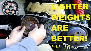 4. LIGHTER ROLLER WEIGHTS = MORE SPEED (FASTER SCOOTER EPISODE 16)