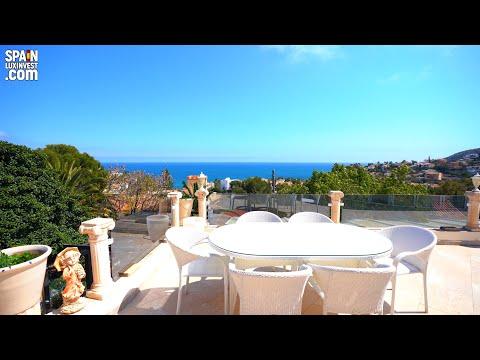 1050000€/200m al mar/Bienes raíces en España/Villas en España/Villa con vistas al mar en Calpe/Estilo clásico