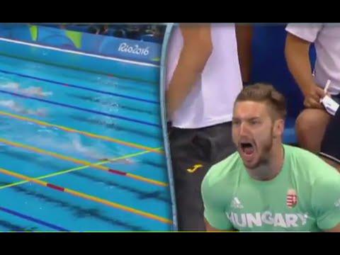這女子在奧運拿下金牌並打破大會紀錄,但當攝影機和觀眾的焦點卻「全都鎖在她老公身上」!