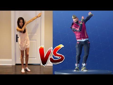 FORTNITE DANCE CHALLENGE! - (In Real Life) - ALL NEW DANCES!! (видео)