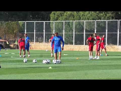 العرب اليوم - شاهد: الحصة التدريبية ما قبل الأخيرة للأسود قبل مغادرة المغرب