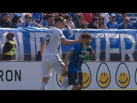 RED CARD: Zlatan Ibrahimovic slaps opponent in the head_Sport videók