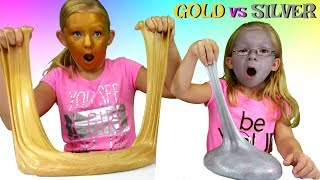 Magic Box Toys Collector presents: Slime Challenge: Gold Slime vs Silver Slime Challenge! Today we will be learning how to make a metallic slime. Each of us will be using different method of making slime. One of us will be trying to make a slime with contact lens solution and the other with borax. Who do you think will win this challenge? Francesca or Leah ? Which slime do you like better: Gold or Silver one? Please post your comments below and enjoy the show : )Thank you again for visiting and please don't forget to share this video with your friends and family : )SUBSCRIBE BUTTON:http://www.youtube.com/c/MagicBoxToysCollectorSurpriseToysSurpriseEggsPlayDohOrbeezHere are our other videos:Food Challenges:https://www.youtube.com/watch?v=bWlus0pdBys&list=PLtMBsqv0SgEJtNNB2qHoiySKD2hIVArotThe Lunch Box Switch Up Challenges:https://www.youtube.com/watch?v=EG4__6vhm5A&list=PLtMBsqv0SgEJyR9aRdFCVk-4S8cS8zYTyKids Challenges: https://www.youtube.com/watch?v=1Qf50JxXKXo&list=PLtMBsqv0SgELFI3WB9XHXdxU1JppGgv8jSlime Challenges:https://www.youtube.com/watch?v=TbnfsWuCq48&list=PLtMBsqv0SgEKPGcTNehwu5MOTj41TVkBdThe Shopping Challenge:https://www.youtube.com/playlist?list=PLtMBsqv0SgEJeTGv0d0qHJgXgqvoRpgEUSurprise Toys:https://www.youtube.com/watch?v=O0Pn6MNL25s&list=PLtMBsqv0SgEKVsTpcq6hva2rsJuPghjzESurprise Eggs:https://www.youtube.com/playlist?list=PLtMBsqv0SgEJBaEl3kAkGRChwu79UkB2IRoutines:https://www.youtube.com/playlist?list=PLtMBsqv0SgEIDechWhco8FzFG35fLaj1g