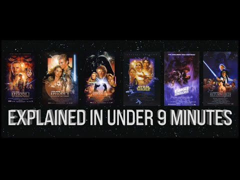 Star Wars Summary | Episodes 1-6 Explained in 9 Minutes