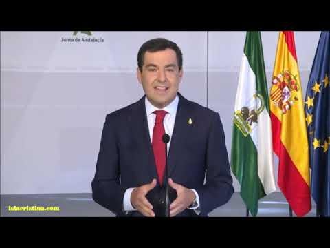 Comparecencia informativa del presidente de la Junta de Andalucía frente al Covid-19