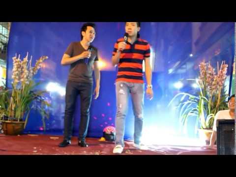 Hài Trấn Thành Anh Đức tập hát ở Bạc Liêu