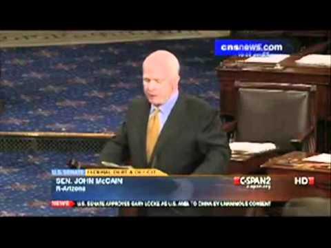 McCain Floor Speech – Tea Party Hobbits