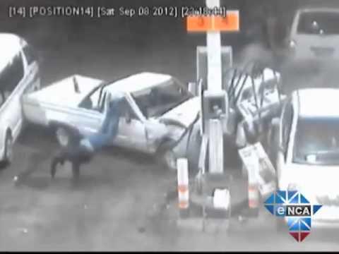 eNCA   Reckless Driver Crashes into Petrol Station