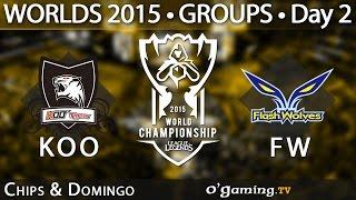 Koo Tigers vs Flash Wolves - World Championship 2015 - Phase de groupes - 02/10/15