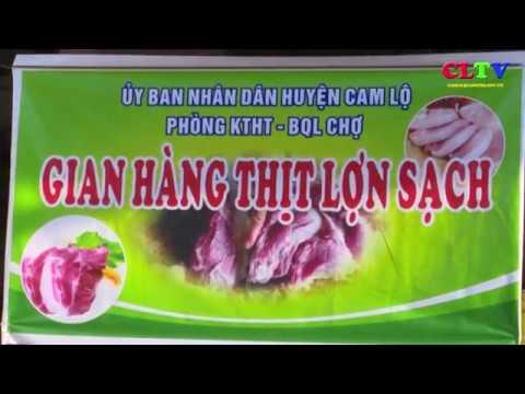 Mở gian hàng bình ổn giá thịt lợn