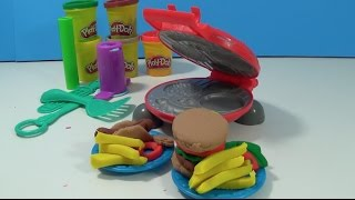 UnboxingToyCollector Presents: Create your own PlayDoh Hamburger, Hot Dog, Fries and other accessories. Comes with one PlayDoh Grill that is ready to cook up all sorts of tasty treats. 5 Cans of PlayDoh also comes with the set. Make Lettuce, Watermelon, Onion Rings and more with this creative, colorful Play Doh Hamburger Creator Set.UnboxingToyCollector produces family friendly content! Regularly featuring, Play Doh Ice Cream Shop, Play Doh Supermarket story fruits and vegetables, Pizzas and Hamburger sets! We also feature Frozen, Elsa, Anna, Olaf, Timmy Time, Paw Patrol, Peppa Pig and Ben & Holly toys!•••••••• Watch UnboxingToyCollector on YouTube: https://www.youtube.com/channel/UCHjB...Unboxing Play Doh Sundae Station Ice Cream Sweet Treats Playset Sundae Swirls! https://www.youtube.com/watch?v=5xgih...Unboxing PlayDoh Ice Cream Sundae Treats Dessert Play Doh Play-set https://www.youtube.com/watch?v=kVGKe...Unboxing Paw Patrol Rocky Saves Bettina the Cow Rescue Set https://www.youtube.com/watch?v=P3ygx...Unboxing Paw Patrol Marshall & Baby Whale Rescue Set https://www.youtube.com/watch?v=vvWbt...Unboxing NEW Paw Patrol Air Rescue Action Figures, Chase, Marshall, Sky, Rocky, Rubble and Zumahttps://www.youtube.com/edit?o=U&vide...https://www.youtube.com/watch?v=iCWtN...Unboxing PlayDoh Town Police Boy New Play-Doh Town Series Unboxing Play-Doh Town Pizza Delivery NEW Play Doh Town Playset https://www.youtube.com/watch?v=FBWfk...•••••••• Watch more Unboxing Play-Doh!https://www.youtube.com/playlist?list...Play Doh Twirl 'n top Pizza Shop Pizzeria Playset - Make Pizzas with Playdough https://www.youtube.com/watch?v=-se69...https://www.youtube.com/watch?v=ayQJF...Unboxing Peppa Pig Mega Dough Set Play Doh Peppa Toys Shapes Colors Cookies Fruits Vegetable