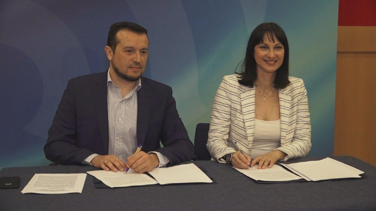 Υπογραφή μνημονίου συνεργασίας υπουργού ΨΗΠΤΕ Ν. Παππά με την υπουργό Τουρισμού Ε. Κουντουρά