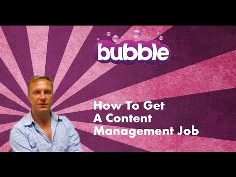 How To Get A Content Management Job - Digital Careers Guide by Bubble Jobs Episode 1