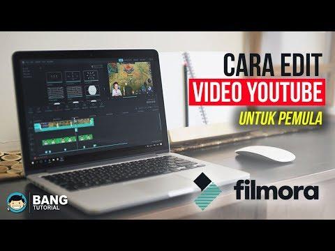 Cara Edit Video Youtube Untuk Pemula - WONDERSHARE FILMORA TUTORIAL #1