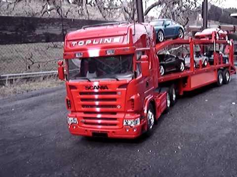 Scania Topliner R620 - SCANIA R 620 TOPLINE 6x4 s Australským návěsem na přepravu osobních aut (více na - www.rc-truck-cernin.eu)
