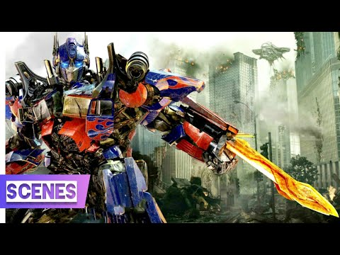 Transformer (2007) Scenes In hindi (11/13) - Optimus Prime Vs Bone Crusher