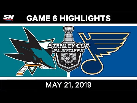 NHL Highlights | Sharks Vs. Blues, Game 6 – May 21, 2019