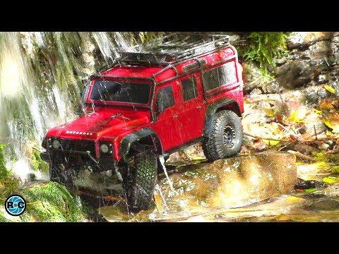 Traxxas TRX4 at the Green Lake Waterfall 💦 RC Scale Crawler 4x4 Adventure Tour