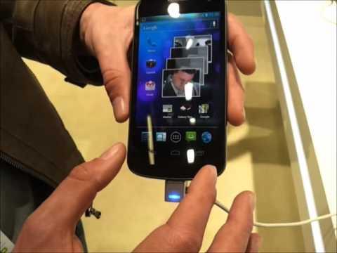 Foto Samsung Galaxy Nexus: Anteprima video del Samsung Galaxy Nexus