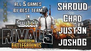 Video SHROUD - ALL 5 GAMES of TWITCH RIVALS PUBG Tournament  2018 ($100k) + DOC RAGE! MP3, 3GP, MP4, WEBM, AVI, FLV Juni 2019