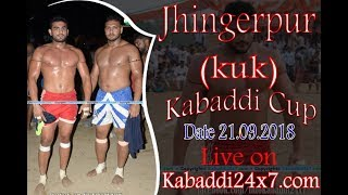 Jhingerpur [ KKR ] Kabaddi Cup Final Day Live Now