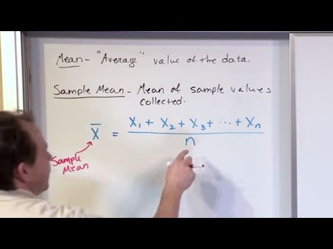 Lesson 10 - Statistics Population Mean & Sample Mean