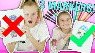 Video 3 MARKER CHALLENGE! w/ LOL Surprise Baby Dolls & Minions! MP3, 3GP, MP4, WEBM, AVI, FLV Maret 2019
