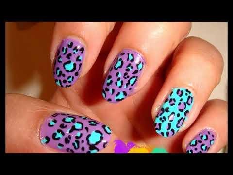 Modelos de uñas - Animal print uñas decoradas Sencillas Faciles y Elegantes