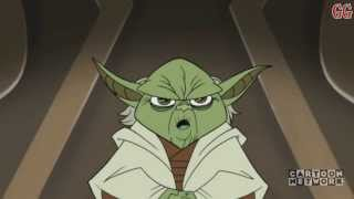 This is a Cartoon Network Micro-Mini Series from 2003-2005. It takes place in between Star Wars Episode 2 Attack of the Clones and Revenge of the SithThis is Season 2 Episode 5Episode Description: Master Yoda, traveling aboard Senator Amidala's ship, persuades Captain Typho to take a detour to Ilum in order to mount a rescue operation.