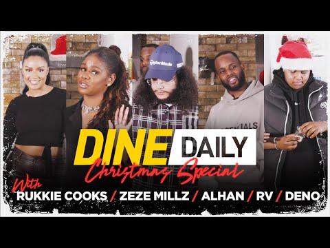 Alhan, Deno, RV & Zeze Millz – Dine Daily Xmas Special with Rukkie Cooks | GRM Daily