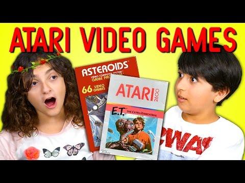 KIDS REACT TO ATARI 2600 VIDEO GAMES (E.T. and Asteroids)