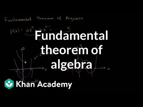 The Fundamental Theorem Of Algebra Video Khan Academy