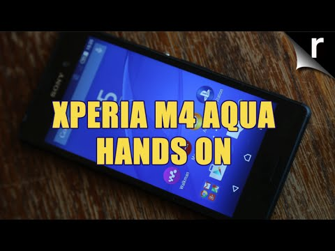 Sony Xperia M4 Aqua hands-on | MWC 2015