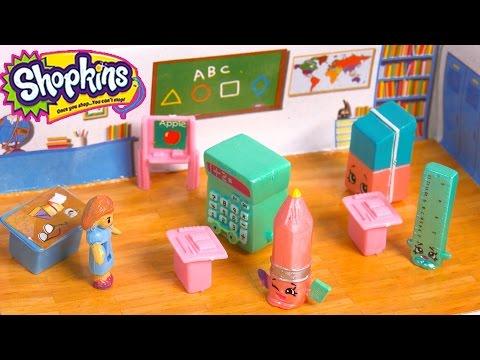 Special Edition Season 3 Shopkins Go Back To School - Teacher & Classroom Play Video Cookieswirlc