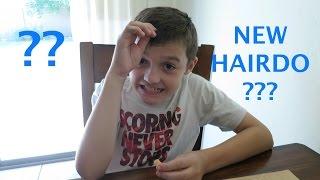 Mason gets a New Hairdo