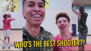 3 POINT CHALLENGE vs. LaMelo Ball | Who's The Best Shooter?