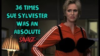 """Even in the midst of battle, she's still so elegant. Welcome to Next of Ken, and in this episode, we're counting down 36 Times Sue Sylvester From """"Glee"""" Was An Absolute Savage. Say what you will about the FOX show, but you can't deny Jane Lynch's character, Sue Sylvester, was groundbreaking and she most definitely helped to catapult the musical TV show into a massive worldwide hit. And you can attribute her success to all the shade she constantly threw at Will Schuester, Rachel Berry, and the other cast members. So here's to Sue and her absolute savagery. Never change. Did we miss one your favorite Sue moments? Let us know in the comments below!Please Subscribe to our channel for daily uploads!Like us on Facebook: https://www.facebook.com/NextofKen1.Follow us on Twitter: https://twitter.com/nextofken1Next of Ken is a producer of reference online video content, covering all things entertainment including video games, movies, TV shows, trends, and more. We upload new videos daily with Top 10 lists, Origin stories, and more!Any audio/visual content that was used in the creation of this video are the sole property of their respective owners, production companies, distributors, and/or airing network(s), if applicable. Next of Ken claims no ownership to the footage used and has no affiliation with any of these production companies, distributors, or airing network(s).Musical Credit: """"Sneaky Snitch"""" - Kevin MacLoad"""