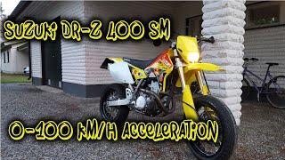 10. Suzuki DR-Z 400 SM 0-100 km/h acceleration (0-60 mph)