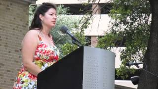 Gwendolyn Zepeda reads from her new collection Falling in Love with Fellow Prisoners at LibroFest, Houston Public LIbrary Oct 5...