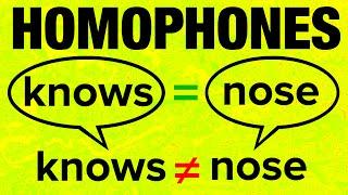 500+ American English Homophones with Pronunciation