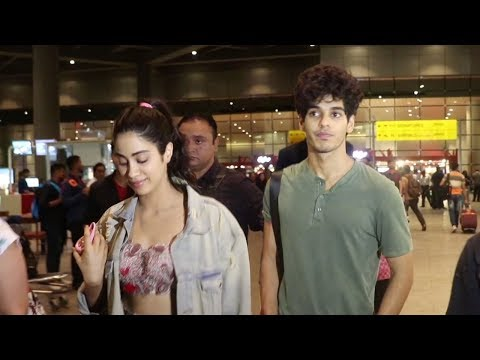 Janhvi Kapoor & Ishaan Khatter Return From Dhadak