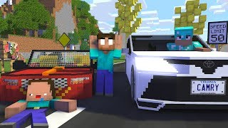 Video Monster School : NOOB vs PRO Racing Car Challenge - Minecraft Animation MP3, 3GP, MP4, WEBM, AVI, FLV April 2019